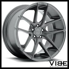 "19"" NICHE TARGA ANTHRACITE CONCAVE STAGGERED WHEELS RIMS FITS ACURA TL"