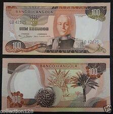 Angola Paper Money 100 Escudos 1972 UNC