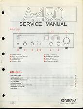 Orig Factory Yamaha A-450 Hi-Fi Stereo Amplifier Amp Service Manual
