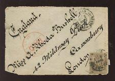 Francia 1877 Fancy indirizzo FRONT per Rhoda bushell 30c franking