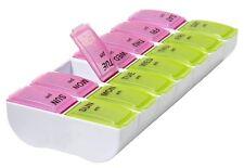 Apex XL Pill Box AM/PM Detach N Go Storage Organizer Sort Medication Jumbo Large