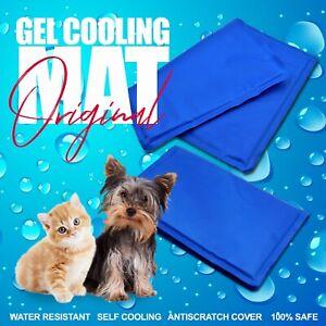MAGIC COOLING GEL PAD PILLOW MAT LAPTOP CUSHION YOGA PET BED SOFA CAT DOG SUMMER