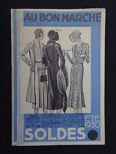 Catalogue magasin AU BON MARCHE été 1930 PARIS no étrennes catalog Katalog