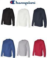 Champion NEW CC8C Mens Size S-2XL Long Sleeve Tagless Cotton Gym Workout T-Shirt