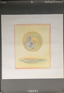 1976 Vintage Original Folon Mother & Christ Child, honoring Ambrogio Lorenzetti