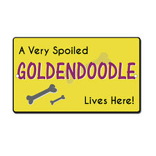 Very Spoiled Golden Doodle Novelty Funny Metal Sign 8 in x 12 in