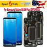 For Samsung Galaxy S9 S8 Plus LCD Screen Touch Digitizer Replacement+Frame Black