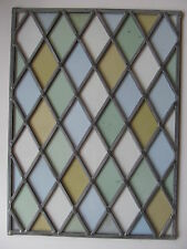 FULLY REBUILT (New Lead) ORIGINAL Victorian STAINED GLASS WINDOW PANEL