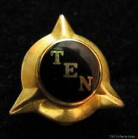 TAU EPSILON NU - sorority Vintage Black Enameled PIN