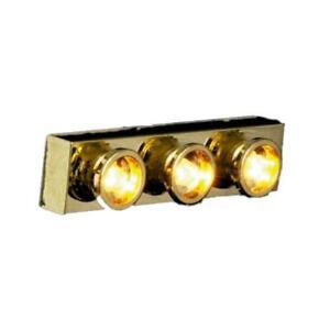 Dolls House 3 Spot Lights in Brass Strip Modern 12V Miniature Electric Lighting
