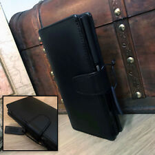 Samsung Galaxy Note 8  Genuine Grade A Real Leather Black  Book Case Wallet.