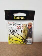 Jimmy Houston Daiichi Offset Black Nickel Worm Hooks - DH37Z -Size 4/0 -4 hooks