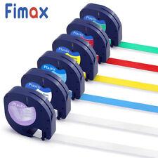 6x replace 16952 91331 91332 fit DYMO Letratag Label Maker Plastic Tape 12mm x4m