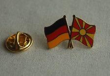 Freundschaftspin Deutschland Mazedonien Pin Badge Button Anstecknadel Sticker