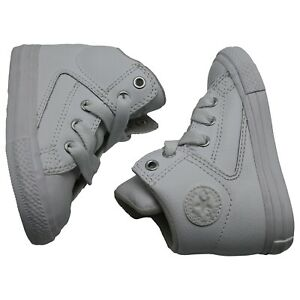 CONVERSE Kid's Chuck Taylor All Star Street Hi Top Leather Sneakers Shoes 6
