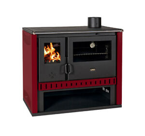 EEK A Kitchen Stove Wood Stove-Prity GT FS S Red - 15 KW