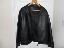 """men's blue harbour m&s leather jacket ~ Size Large~ 41 to 43"""" Chest"""