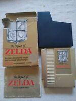 The Legend of Zelda NES Nintendo Gold Edition w/Box Manual 3 screw