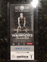 2016 NBA Golden State Warriors 10/25 Ticket Stub - KEVIN DURANT Debut Dubs Game