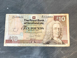 The Royal Bank of Scotland £10 banknote dated 1992