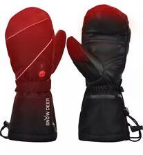 Snow Deer Heated Gloves,Mens Womens Heated Ski Gloves Mittens,7.4V 2200MAH XS
