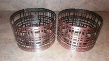 Set of 2 Yankee Candle metal candle shades