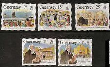 GUERNSEY SG410/4 1987 JOHN WESLEY VISIT OT GUERNSEY MNH