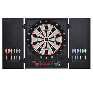 Elektronische Dart-set Dartboard Dartscheibe mit 12 Darts Schwarz+Weiß 8 Spieler