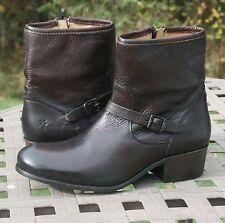 FRYE LYNN STRAP SHORT US 9 Woman's Western Boot Dark Brown Soft Antique