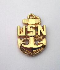 CHIEF PETTY OFFICER BASIC CPO E-7  Military Vet US NAVY Rank Pin P15235 EE SMALL