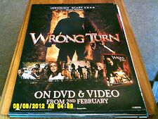 Wrong Turn (horror) 2 sided Movie Poster A2
