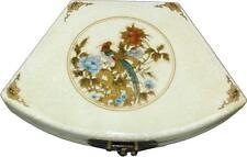 White Decoration Box - Oriental Hand Made Fan Shape Box (FB-WF-DP)
