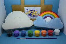 Paint Your Own Rainbow Jewellery Trinket Box Gift Set Ceramic Him Her Birthday