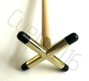 """1 x 48"""" 2 PIECE POOL or SNOOKER CUE With BRASS CROSS / BRIDGE REST For TABLES"""