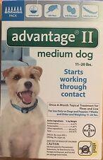 K9 Advantage II 11-20 Flea Lice Medicine for Medium Dogs Pack K-9 6 Month Supply