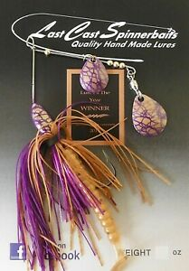 Spinnerbait - Last Cast Spinnerbaits Elite Series 3/8oz - Gold/Purple