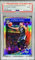 Stephen Curry 2018-19 Donruss Optic Holo PSA 9 MINT GOLDEN STATE WARRIORS 🔥