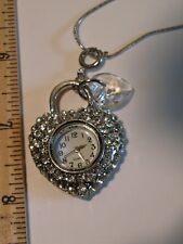 Ulta Beauty Silver Chain, Pendant, Heart Shaped Watch & Bracelet Set New w/ Box