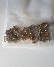 Pack of 50 3/16 x 5/8 unc round slot head brass set screw (42)