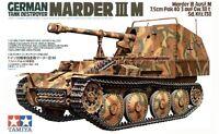 Tamiya 35255 1/35 Model Kit German Tank Destroyer Marder III Ausf.M Sd.Kfz.138