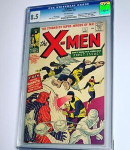 Uncanny X-men 1 CGC 8.5 VF+ Marvel 1963 Silver Age Key High Grade Grail!