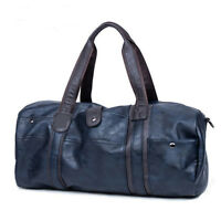 Hot Men's Large Capacity Travel Luggage Leather Shoulder Bag Duffle Gym Handbag