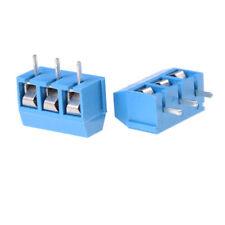 10x KF301-3P Pitch 5.0mm Straight Pin PCB 3Pin Screw Terminal Block ConnectorsFO