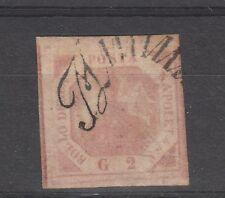 FRANCOBOLLI 1858 NAPOLI 2 GR. ROSA CHIARO D/925