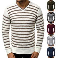 Suéter Sweater chaqueta de punto jersey de punto fino truco V-Neck señores ozonee 29
