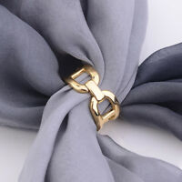 Scarf Rings Women's Fashion Gold Copper Chain Buckles Brooch for Silk Scarf