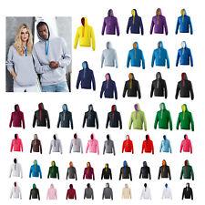 AWDis Varsity Hoodie - Plain Hooded sweatshirt contrast hood & draw strings