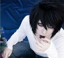 Hot Sell! Popular Death Note L Black Short Stylish Anime Cosplay Wig W#601