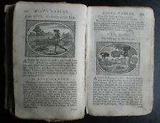 1782 Aesop's Fables VERY RARE Illustrated Croxall 12th edition London INCOMPLETE