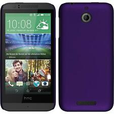 Coque Rigide HTC Desire 510 - gommée pourpre + films de protection